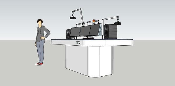 Broadcast Radio Studio Custom Made 3D