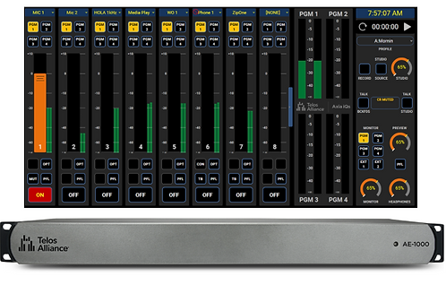 IQs AE-1000 Virtual Mixing Console Software 4-Fader Base License