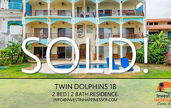 Twin Dolphins 1B | Potrero | Playa Potrero | Beach Front | Ocean Front | For Sale | Costa Rica | Invest in Happiness Costa Rica