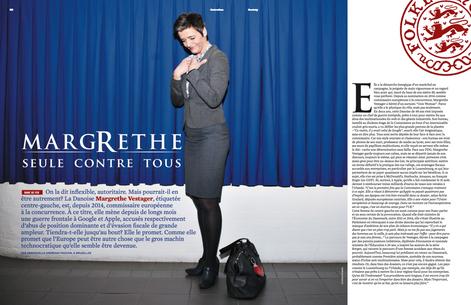For french magazine SOCIETY, Magrethe Vestager.
