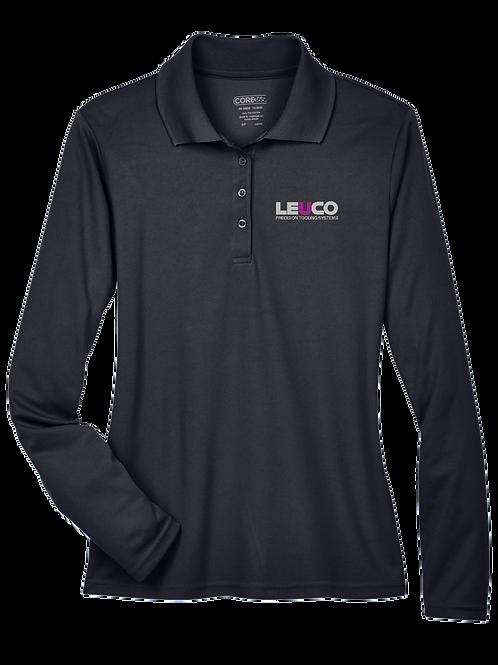 78192 Core 365 Ladies' Pinnacle Performance Long-Sleeve Piqué Polo