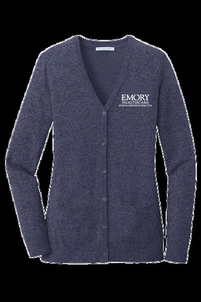 LSW415  Port Authority ® Ladies Marled Cardigan Sweater