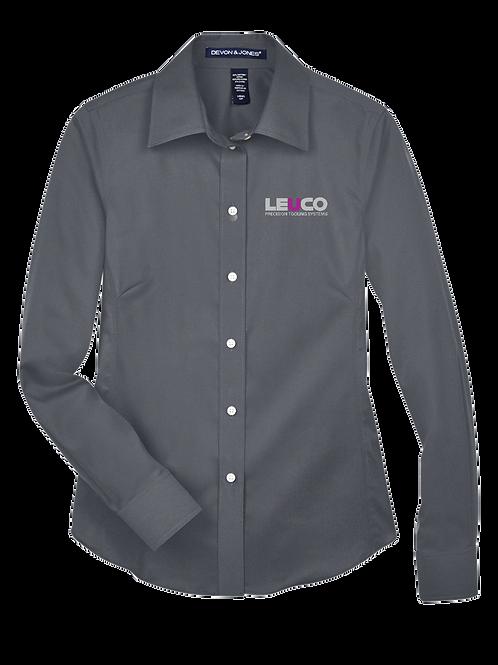 DG530W Prime LogoDevon & Jones Ladies' Crown Woven Collection® Solid Stretch Twi