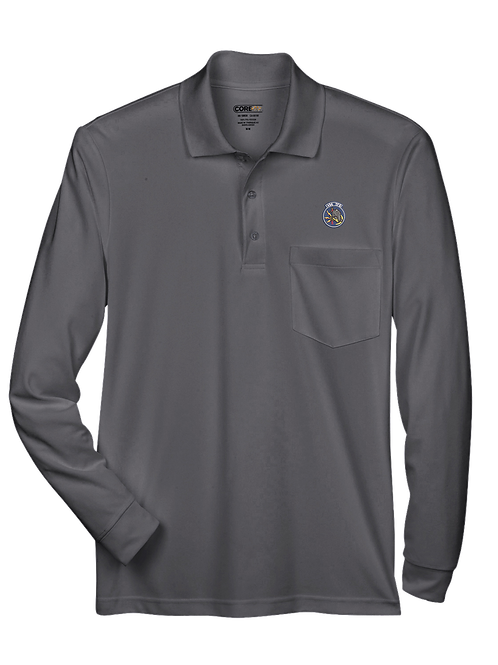 496th - 88192P Performance Long-Sleeve Piqué Polo with Pocket