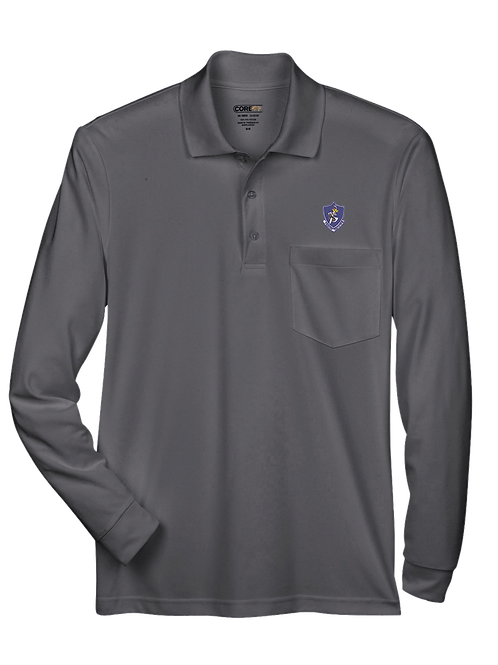 10th TFS - 88192P Performance Long-Sleeve Piqué Polo with Pocket