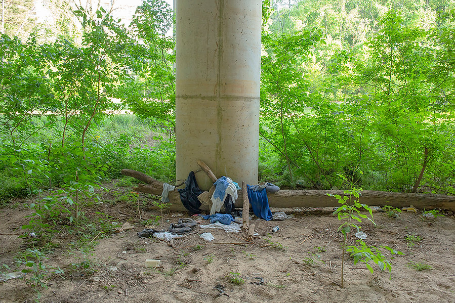 Cheshire Bridge Atlanta Clothes Scatter.