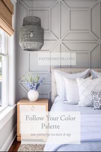 Master Bedroom: Classic, Coastal Palette Breakdown | Mary Hannah Interiors | Studio Blog