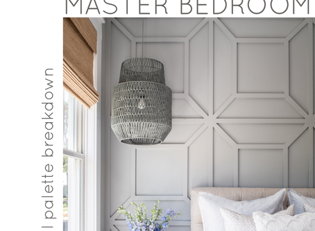 Master Bedroom: Classic, Coastal Palette Breakdown