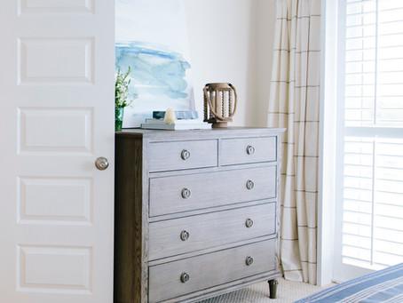#WrightsvilleBeachBatchelorCondo Master Bedroom: Before and After