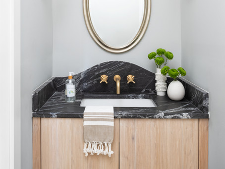 #ScandiFarmhouse Powder Room: Before and After