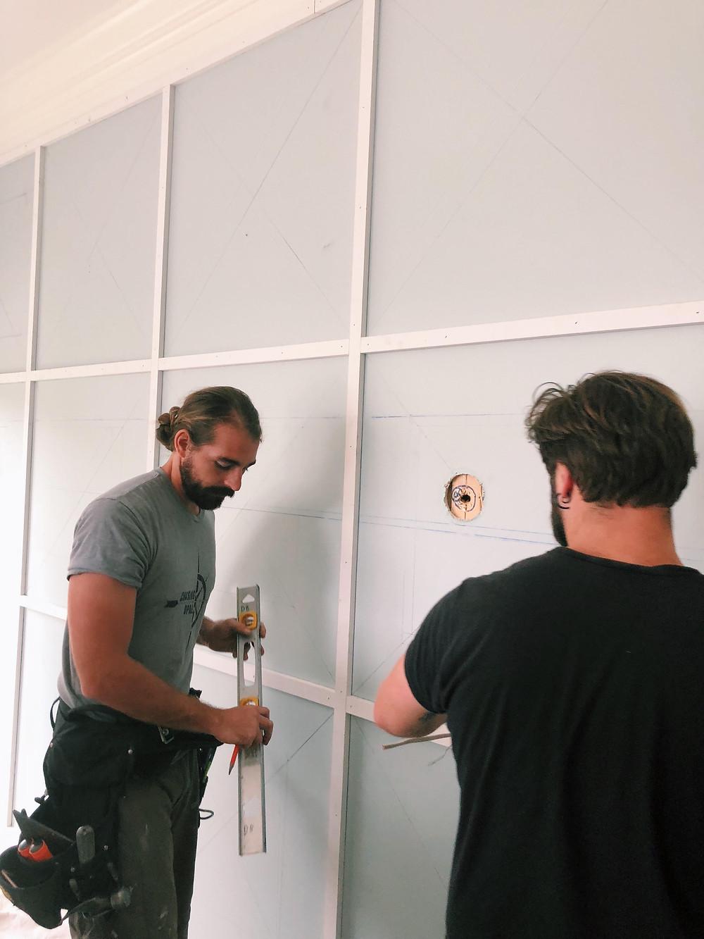 Mary Hannah Interiors | Studio Blog | DIY: How to Recreate this Geometric Headboard Wall