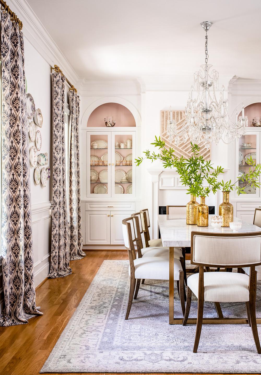 Elegant Retrohemian Chateau: Home Tour, Formal Dining Room Mary Hannah Interiors