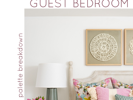 Guest Bedroom: Fun, Feminine Palette Breakdown