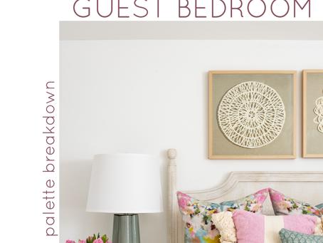 Guest Bedroom: Fun, Feminine Palette Breakdown