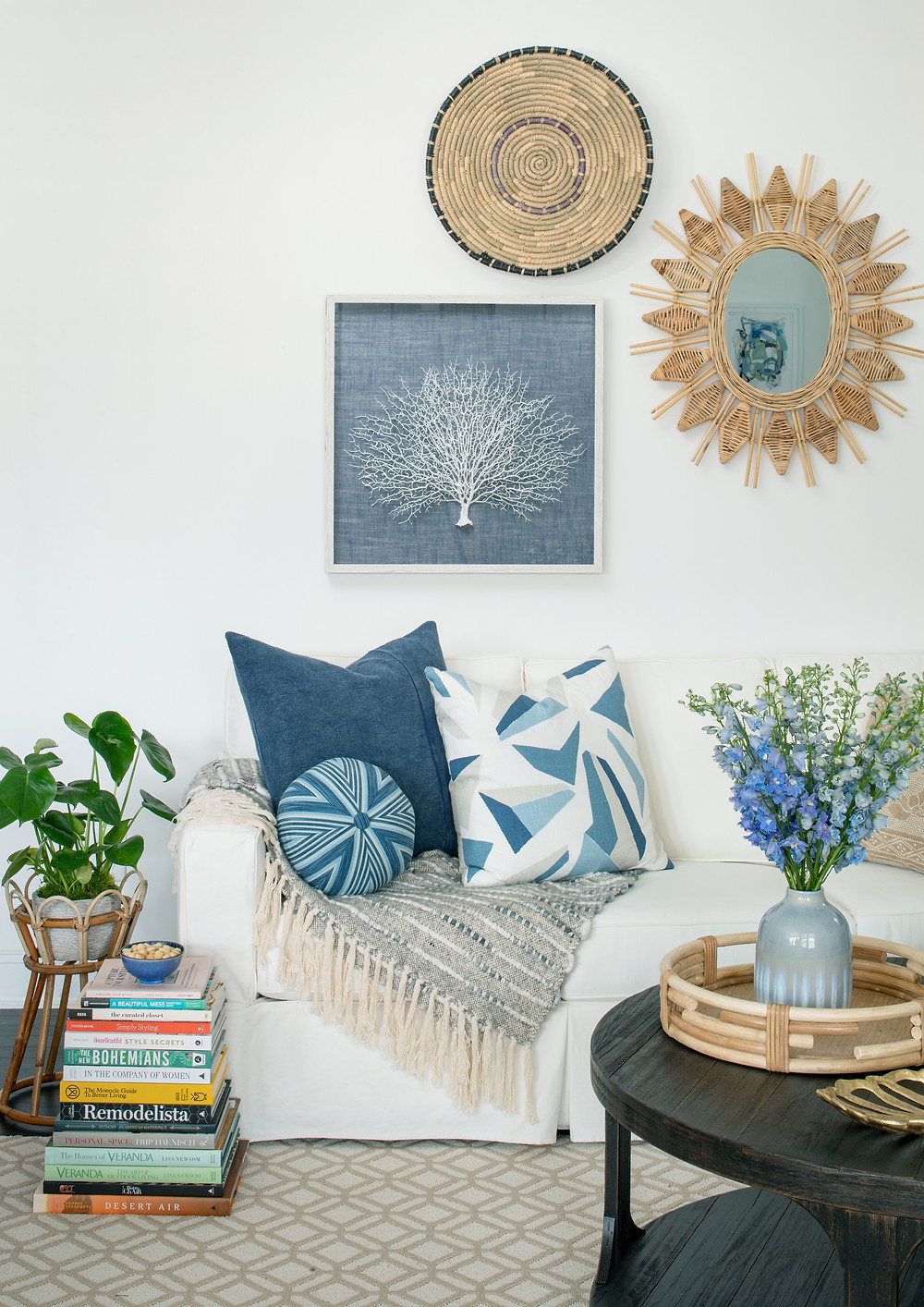 HOW TO STYLE A ROUND COFFEE TABLE MARY HANNAH INTERIORS