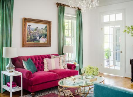Elegant Retrohemian Chateau: Home Tour, Formal Living Room