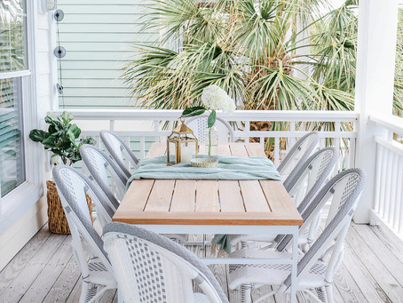 #MidCenturyBohemianBeachHouse: Home Tour, Outdoor Dining