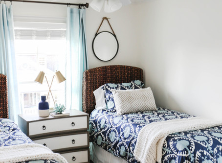 Mid-Century Bohemian Beach House Transformation: Bedroom Edition