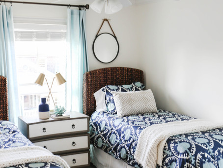 Mid-Century Bohemian Beach House Transformation: Bedroom Edition