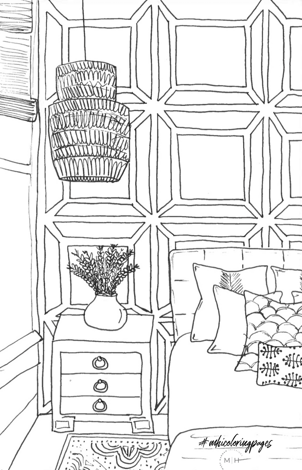 Mary Hannah Interiors Coloring Book Pages | Studio Blog | COVID Quarantine