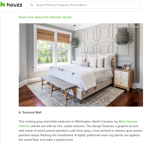 """MHI Featured in """"The 10 Most Popular Bedrooms on Houzz"""""""