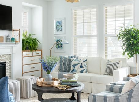 Mid-mod Coastal Casa: Home Tour, Living Room
