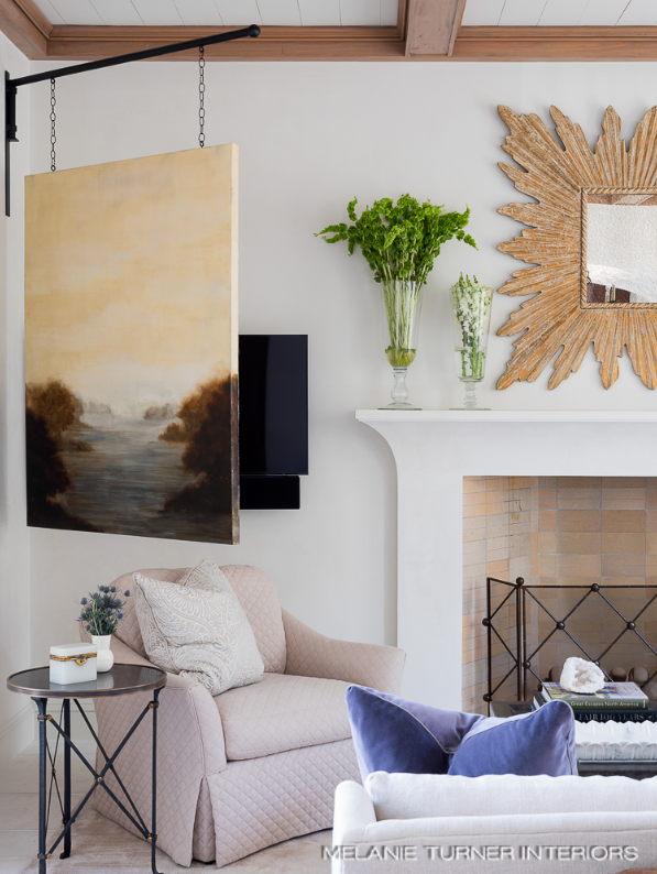Mary Hannah Interiors Where to Place and How to Conceal Your TV Melanie Turner Interiors