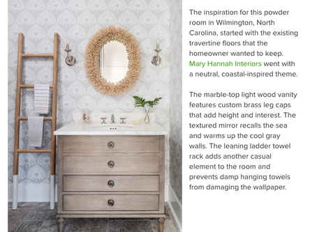 "MHI Spotlighted in ""The 10 Most Popular Powder Rooms on Houzz"""