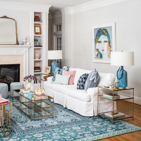 Mary Hannah Interiors Wilmington Designer Portfolio by Room Living Room