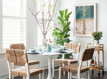 Mid-mod Coastal Casa: Home Tour, Dining Room and Kitchen
