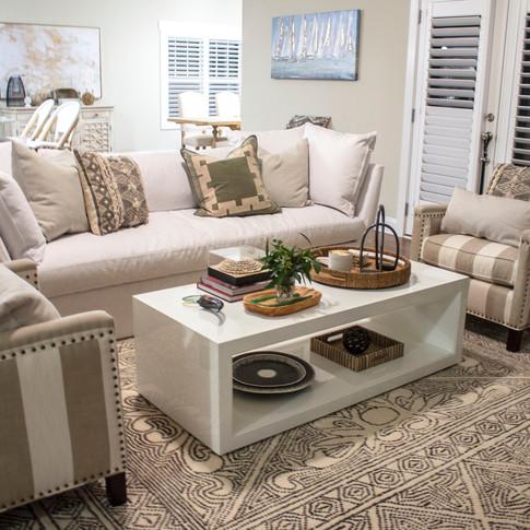 Mary Hannah Interiors Living Room North Topsail Wilmington Designer