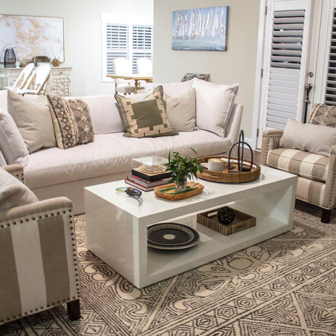 Mary Hannah Interiors Living Room North Topsail Wilmington Designer