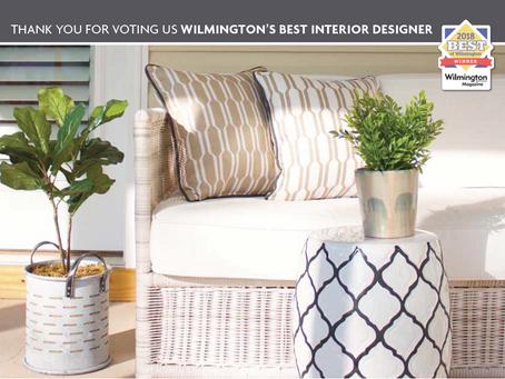 ANNOUNCEMENT: WILMINGTON'S BEST INTERIOR DESIGNER!