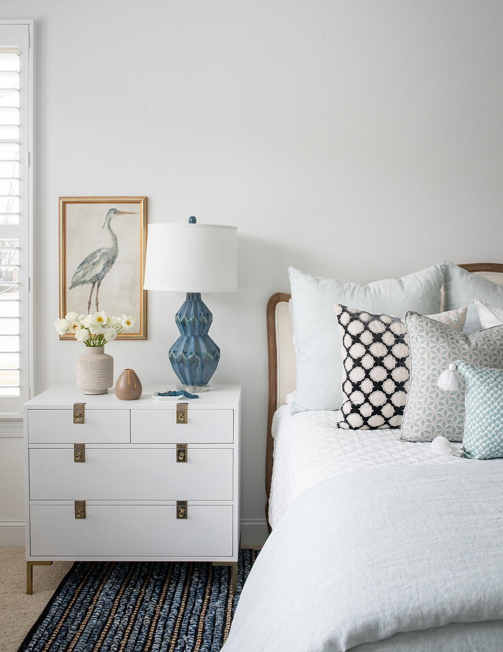 Mid-mod Coastal Casa: Home Tour, Master Bedroom Mary Hannah Interiors Blog