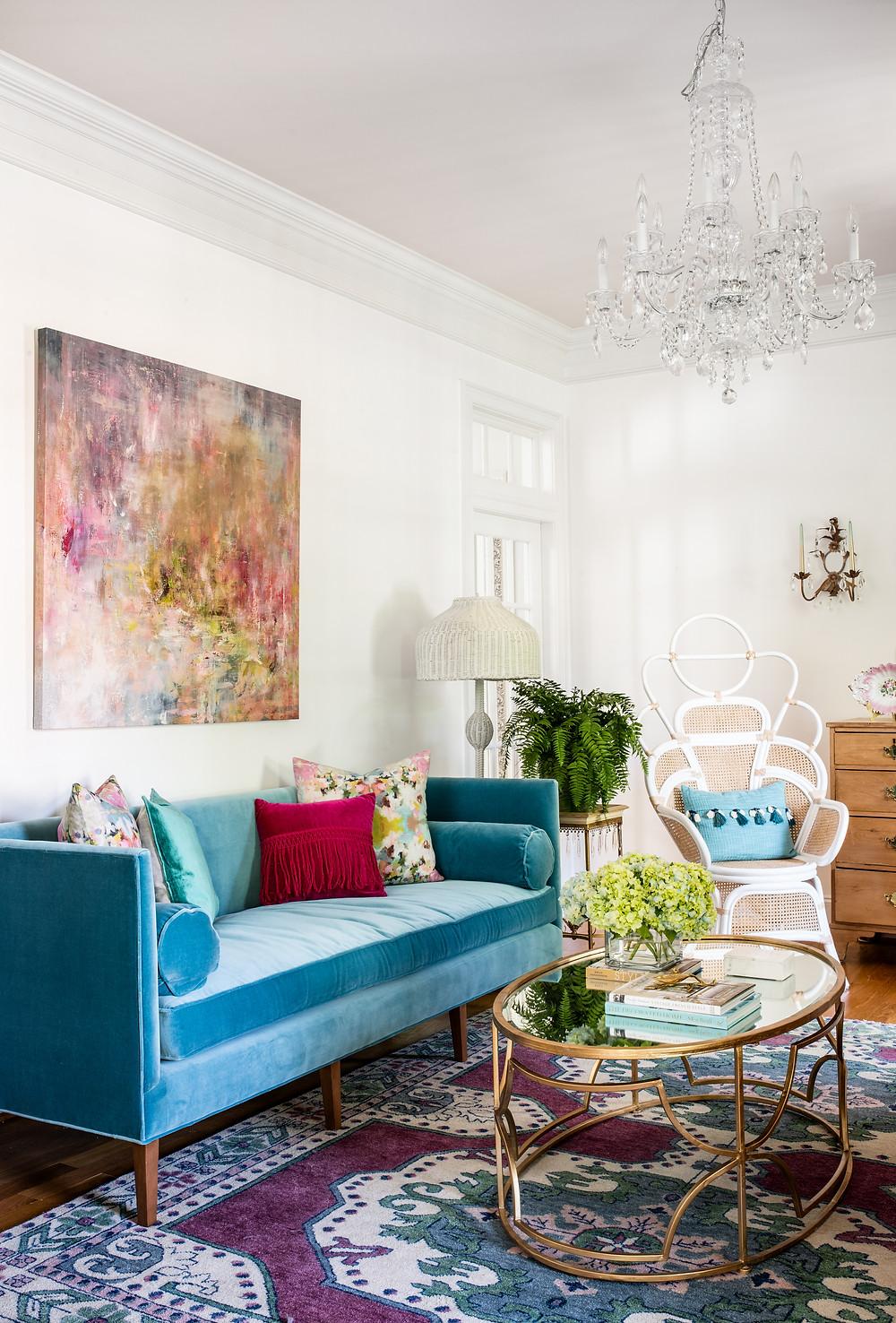 Mary Hannah Interiors Blog Elegant Retrohemian Chateau: Home Tour, Formal Living Room