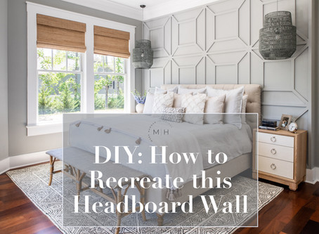 DIY: How to Recreate this Geometric Headboard Wall