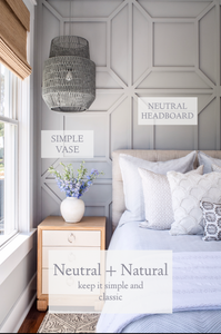 Master Bedroom: Classic, Coastal Palette Breakdown | Mary Hannah Interiors | Studio Blog