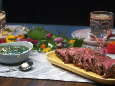 New York Strip Steak with Chimichurri