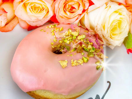 Pretty in Pink and Orange Donut