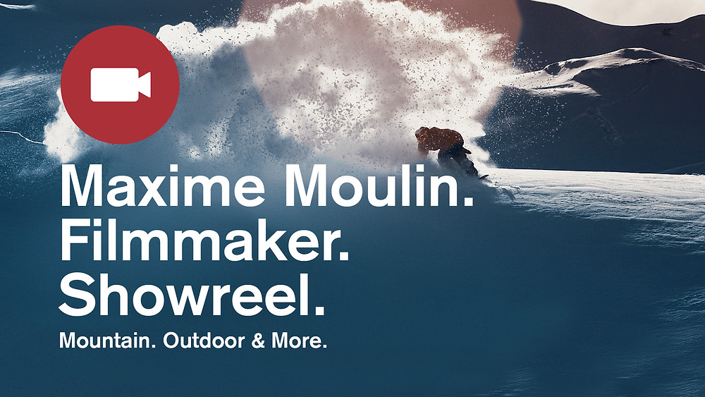 Snowboarding, Maxime Moulin Mountain & Outdoor Filmmaker, Snowboarder slashing snow at sunrise