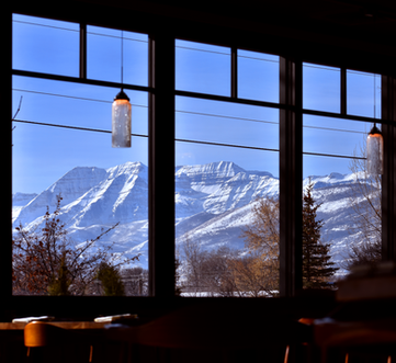 Mt. Timponogos view @ Midway Mercantile Restaurant