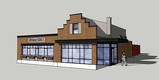 Early Sketch of Midway Mercantile Restaurant
