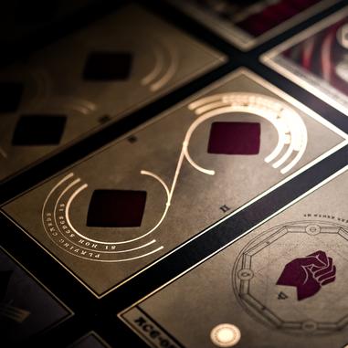 Gold foil on beautiful tarot cards...