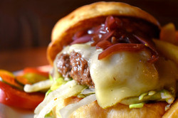 Cheeseburger with Fuego Verde Cheese