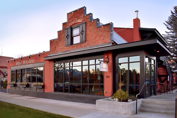 Midway Mercantile Restaurant in autumn
