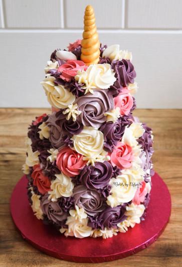 2 Tier Unicorn Cake