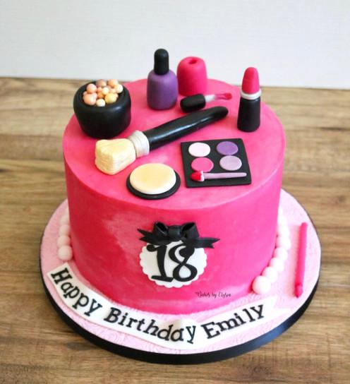 Make Up Themed Cake