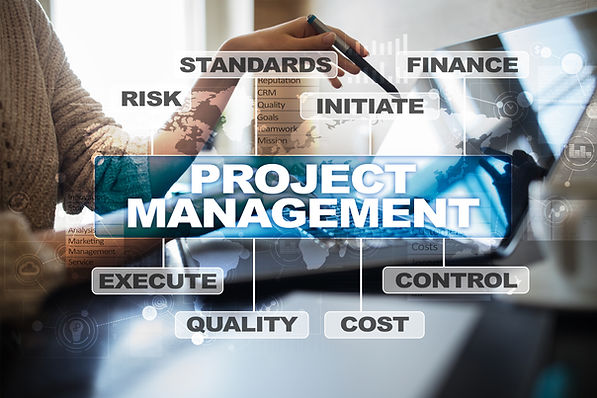 Project management on the virtual screen
