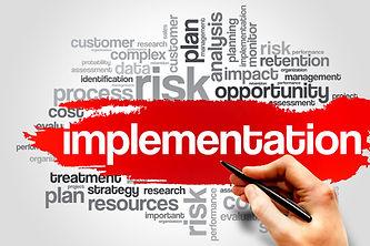 Implementation word cloud, business conc