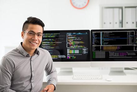 Portrait of smiling Vietnamese software